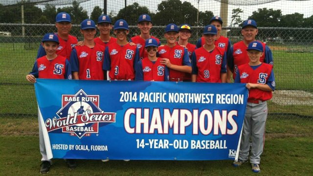 Some of the local team who will be the first ever from Spoknae to play in the Babe Ruth World Series.