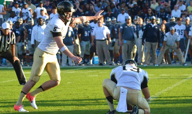 Austin Rehkow is one of the few punters in the nation who also handles his team's place kicking. (Photo: Idaho)