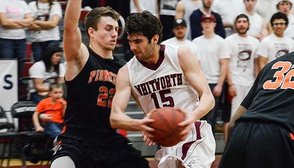 Whitworth's Christian Jurlina scored 27 points for the Pirates, who rallied to beat L&C. (Photo: Whitworth)