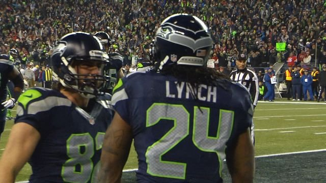 According to TMZ, Marshawn Lynch was racing teammate Fred Jackson before Jackson crashed his car into a stop sign.