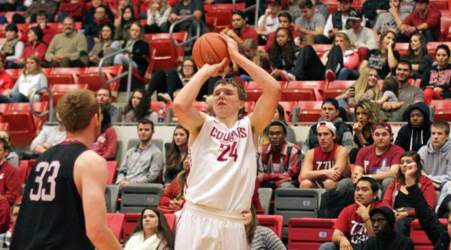 Josh Hawkinson scored 14 points in the Cougars' loss to Northern Iowa. (Photo: WSU)
