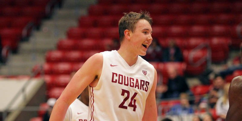 Josh Hawkinson led all players with 24 points and 10 rebounds in a 91-67 nonconference win over Portland State. (Photo: WSU)