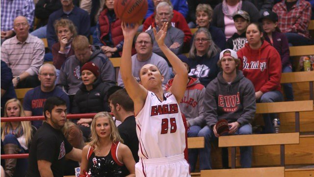 Haley Hodgins and the EWU women dropped a close game to Northwestern on Thanksgiving.