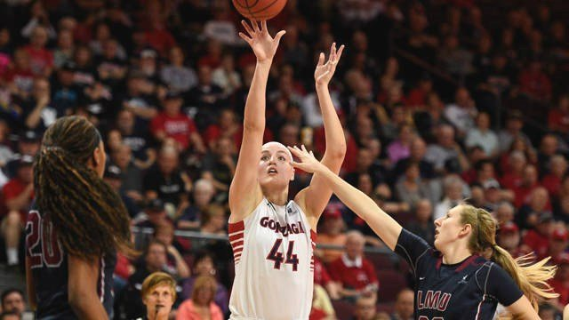 Shelby Cheslek had a double-double, and the Gonzaga women's basketball team won their fourth straight game, 66-59. (Photo: GU)