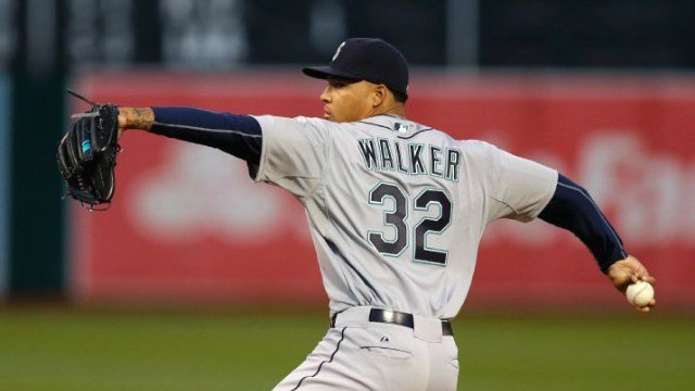 Taijuan Walker's woes continued by spotting the Dodgers five early runs in the Mariners loss. (Photo: ESPN/AP)