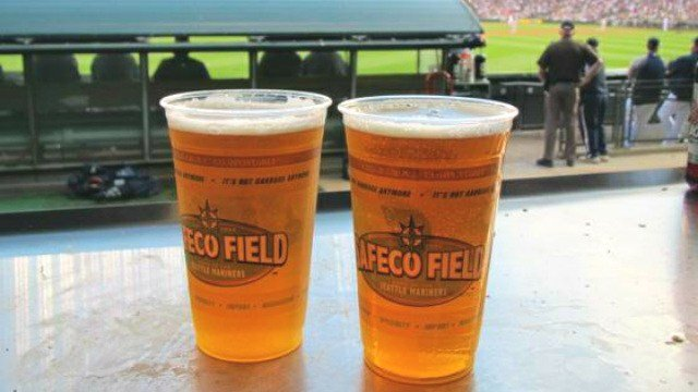 A couple of beers at Safeco Field at a Mariners game. (Photo: Spokane7.com)