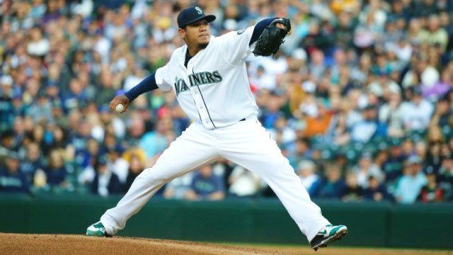 King Felix fanned 12 and only allowed one run to help the Mariners bust their slump. (Photo: ESPN/Twitter)