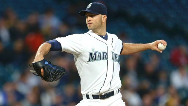 J.A. Happ pitched into the eighth inning to help the Mariners avoid the sweep. (Photo: ESPN/AP)