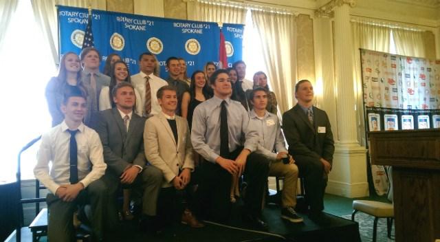 The Greater Spokane League honored its 2014-15 scholar athletes on Thursday. (Photo: Sam Adams)