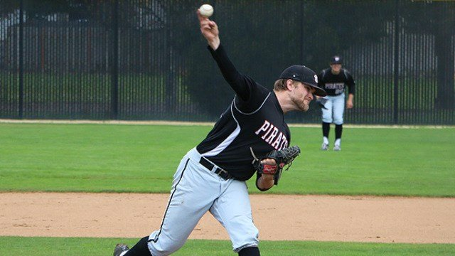 Dan Scheibe's dominating 11-strikeout no-hitter led Whitworth past Linfield on Friday. (Photo: Whitworth)