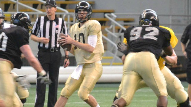 Matt Linehan impressed in Idaho's Silver and Gold Spring game at the Kibbie Dome on Friday. (Photo: Idaho)