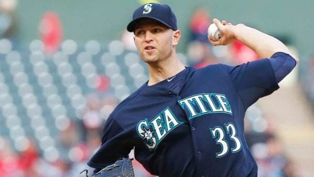 J.A. Happ struck out nine over 6.2 innings to lead Seattle past the Rangers 2-1. (Photo: ESPN/Twitter)