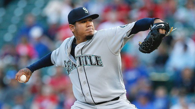 King Felix improved to 4-0 on the season in the Mariners 4-2 win over Texas. (Photo: Mariners)