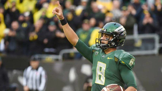 All the talk before the draft came to nothing when the Tennessee Titans drafted Marcus Mariota second overall. (Photo: KPTV)