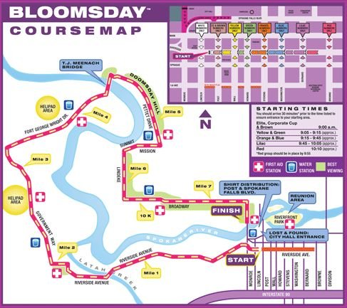The 2015 Bloomsday course
