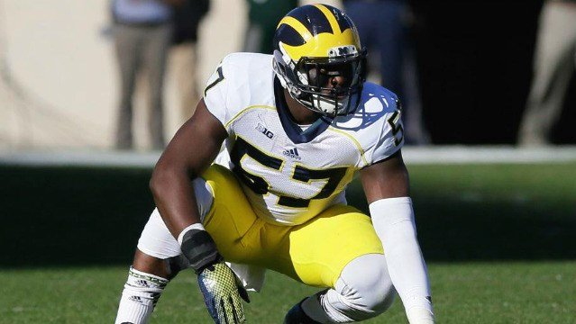 The Seattle Seahawks selected former Michigan DE Frank Clark with their first 2015 draft choice. (Photo: NFL/Twitter)