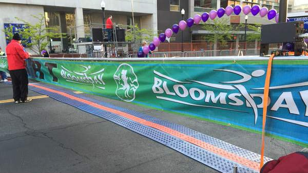 The 2015 Bloomsday starting line