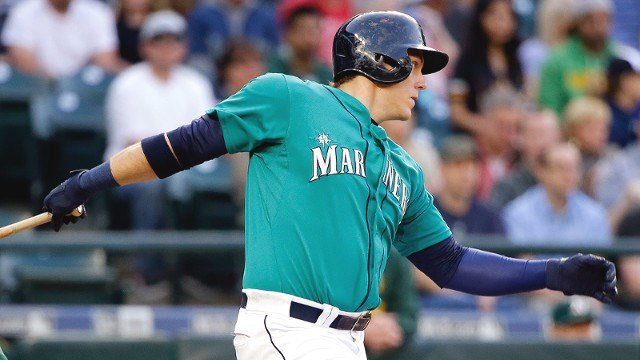 Logan Morrison's 11th-inning walk off home run lifted the Mariners past Oakland on Friday. (Photo: Mariners)