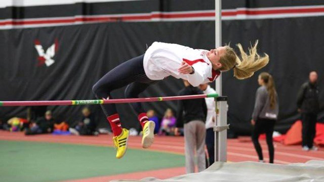 EWU's Jozie Kimes finished 10th in the Heptathalon in Cheney. (Photo: EWU)