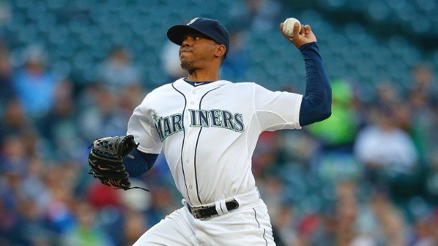 Roenis Elias pitched well to start the game, but the Rangers took the win. (Photo: Mariners)