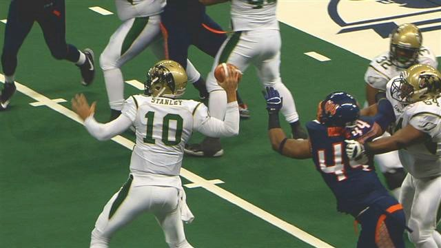 Fill-in QB Nathan Stanley put in another stellar performance for the SaberCats to put a hurting on the Shock.