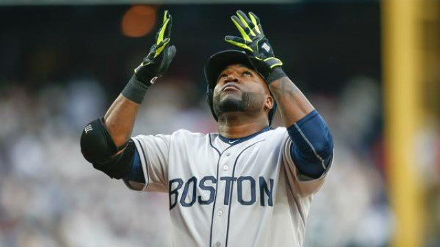 David Ortiz helped lead the Red Sox past Seattle on Saturday night. (Photo: Twitter/ESPN)