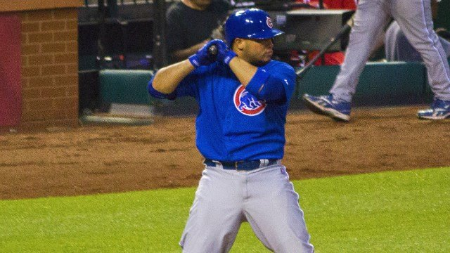 Wellington Castillo at bat for the Cubs, where he spent the first six seasons of his career. (Photo: Wiki)