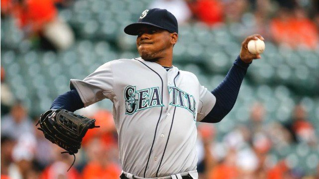 Roenis Elias only allowed one run in 7.2 innings pitched to lead the Mariners past Baltimore. (Photo: ESPN/Twitter)