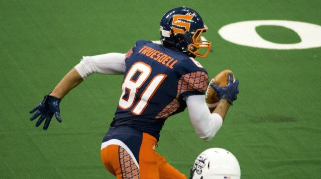 Nick Truesdell is the Shock's tallest receiver and red zone threat. (Photo: Spokesman)