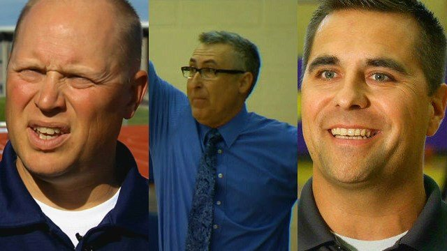 The Top Male Coach nominees for the Spokane Youth Sports Awards.