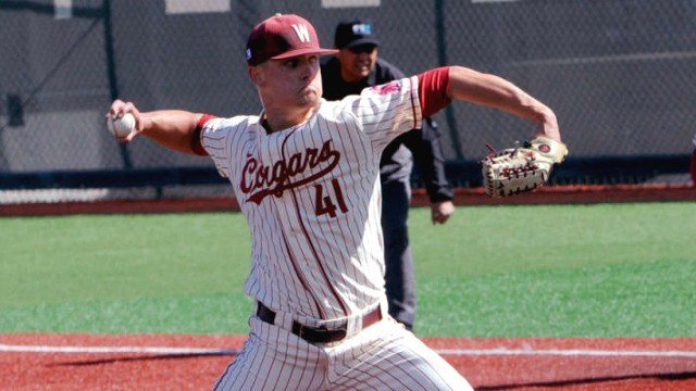 Sam Triece was selected by the Tampa Bay Rays in the tenth round of the MLB Draft. (Photo: WSU)