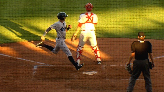 Everett crossed the plate 11 times to beat complete the sweep of the Indians.