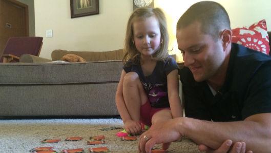 Aaron Porter and his daughter Josie.