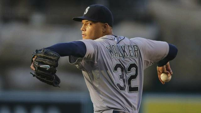 Taijian Walker pitched seven solid innings to lead the Mariners past Anaheim. (Photo: Mariners)