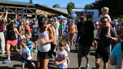 More than 1,000 aspiring Ironman competitors took part in the IronKids fun run on Saturday morning at McEuen Park.