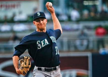 Mike Montgomery throws one-hitter in Mariners victory.