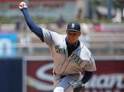 Taijuan Walker and the Mariners fell 10-3 to the Angels on Sunday.
