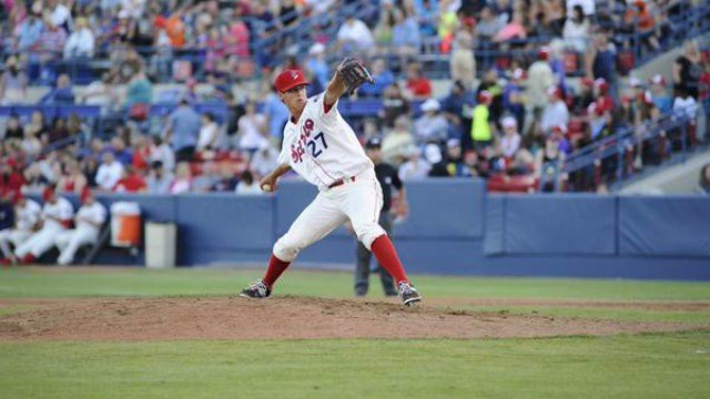 Jason Hoppe's days with the Spokane Indians ended after the Texas Rangers traded him. (Photo: Indians)