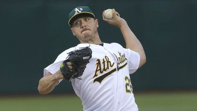 Scott Kazmir baffled the Mariners with eight innings of dominance on Thursday night. (Photo: Athletics)