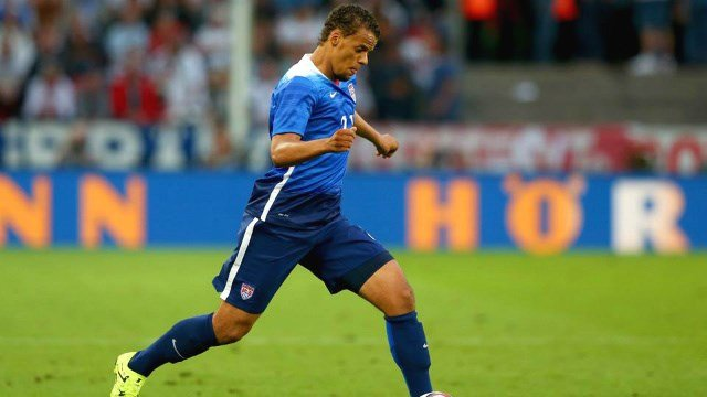 Timmy Chandler scored his first international goal in the USA's 4-0 win on Friday night. (Photo: SI/Twitter)