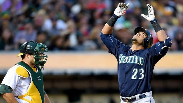 Nelson Cruz and another trio of Mariners each hit two-run homers to beat Oakland. (Photo: ESPN/Twitter)