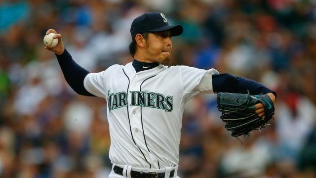 Hishashi Iwakuma gave up just one run in the Mariners win on Sunday. (Photo: Mariners)