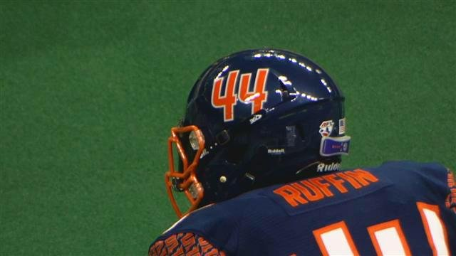 James Ruffin and the Spokane Shock host Arizona on Friday.