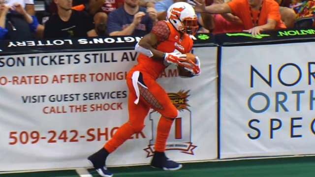 Anthony Amos has been the Shock's leading receiver in 2015.
