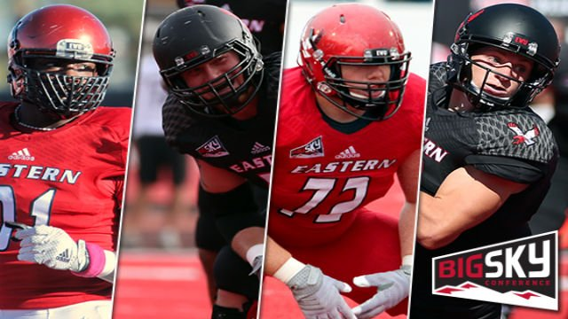 © Four Eastern Washington University football players – led by offensive MVP Cooper Kupp – have been selected to the 2015 Big Sky Conference Preseason All-Conference Team.