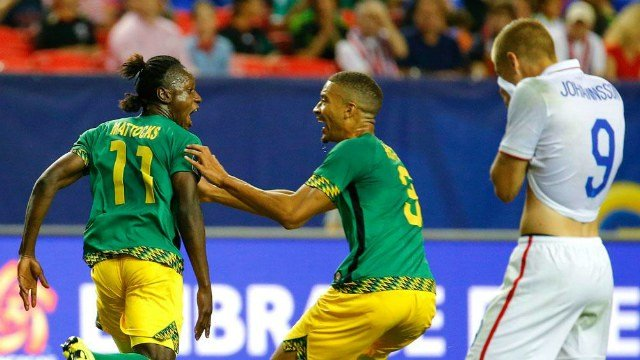 Jamaica scored twice in the first half and held on to shock the USMNT in the Gold Cup semifinals. (Photo: NBCSN/Twitter)