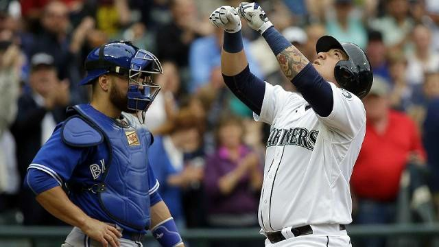 Jesus Sucre hit his first MLB home run, but the Mariners couldn't close things out on Saturday. (Photo: Mariners)