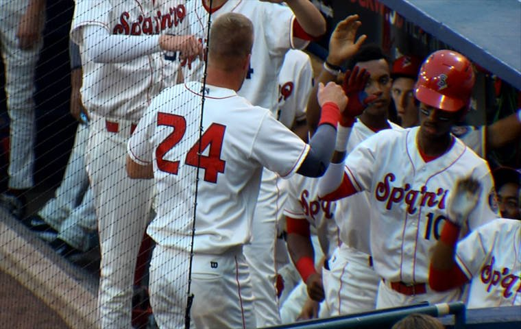The Spokane Indians snapped their four-game losing streak with a 4-0 win on Saturday.