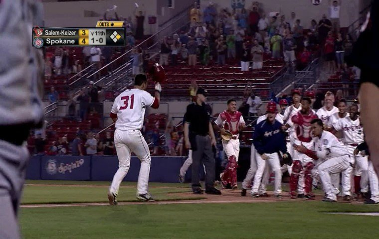 Tyler Sanchez lifts Indians to 5-3 victory in 11 innings.