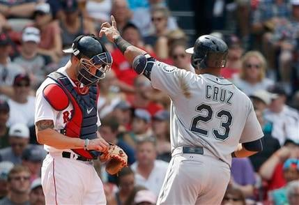 © Mariners beat the Red Sox 10-8 in 12 innings on Sunday.